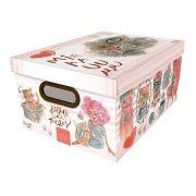 Caixa Organizadora Gato 38X29X18,5Cm 2214.02