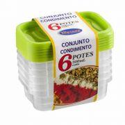 Conjunto Condimento 6 Potes Ret 300 Ml 6703 Sant