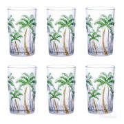 Copos Altos Cristal De Chumbo Palm Tree 330Ml Rojemac