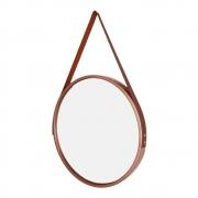 Espelho Decorativo Redondo Com Alça e Moldura 33cm