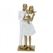 Estatueta decorativa resina família filha nos braços 257-144 Mabruk