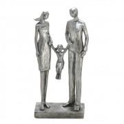 Estatueta decorativa resina prata família 257-192 Mabruk