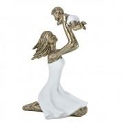 Estatueta decorativa resina mãe e filha 257-10040 Mabruk