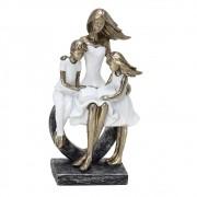 Estatueta decorativa resina mãe e filhos 257-10043 Mabruk