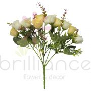 Buque Artificial de Mini Rosas com 10 Flores - Brilliance