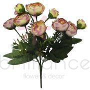 Buque Artificial de Mini Rosas com 9 Flores - Brilliance