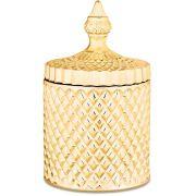 Pote Dourado Em Vidro 7715