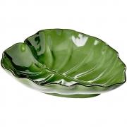 Prato Decorativo De Cerâmica Verde - Lyor