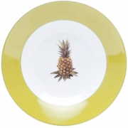 Prato fundo de porcelana super white pineapple 20Cm Lyor