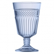 Taca Palace em vidro 330ml A15cm cor azul luster - Full Fit