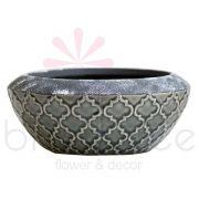 Vaso Cerâmica Cinza 7X21,5Cm Blc308Cz