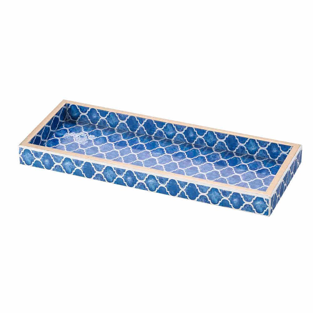 Bandeja De Madeira Blue 30X12Cm 3402 Lyor