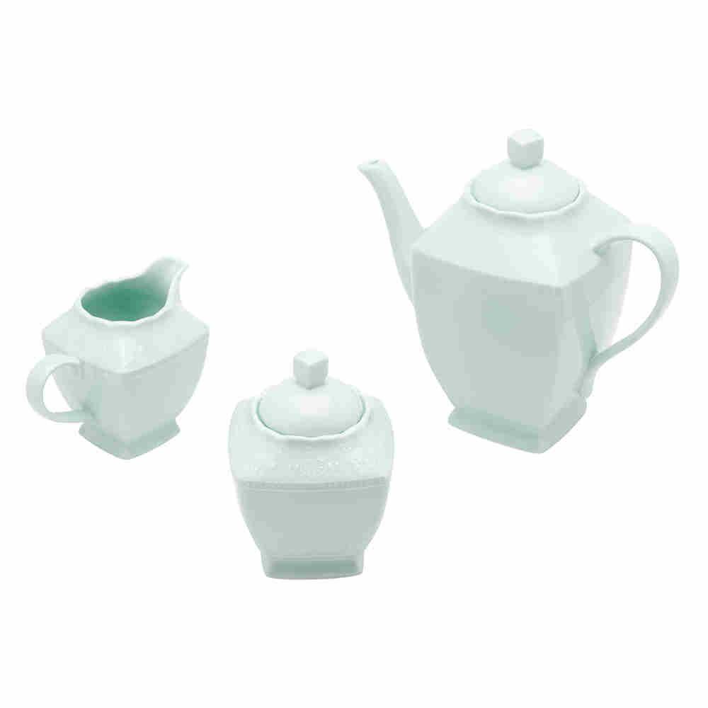 Conjunto com 3 peças para Café de Porcelana - Lyor