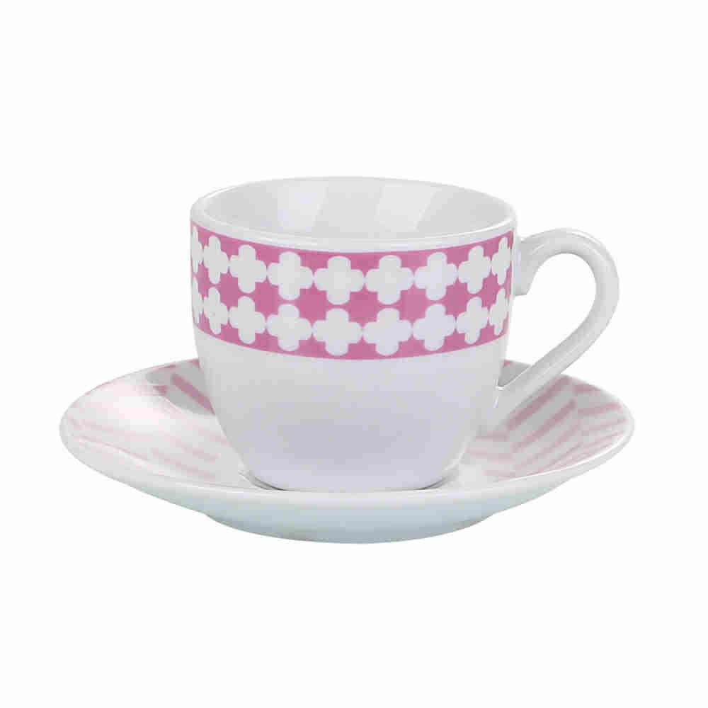 Cj 6 Xicaras Café De Porcelana 90Ml 2153 Lyor
