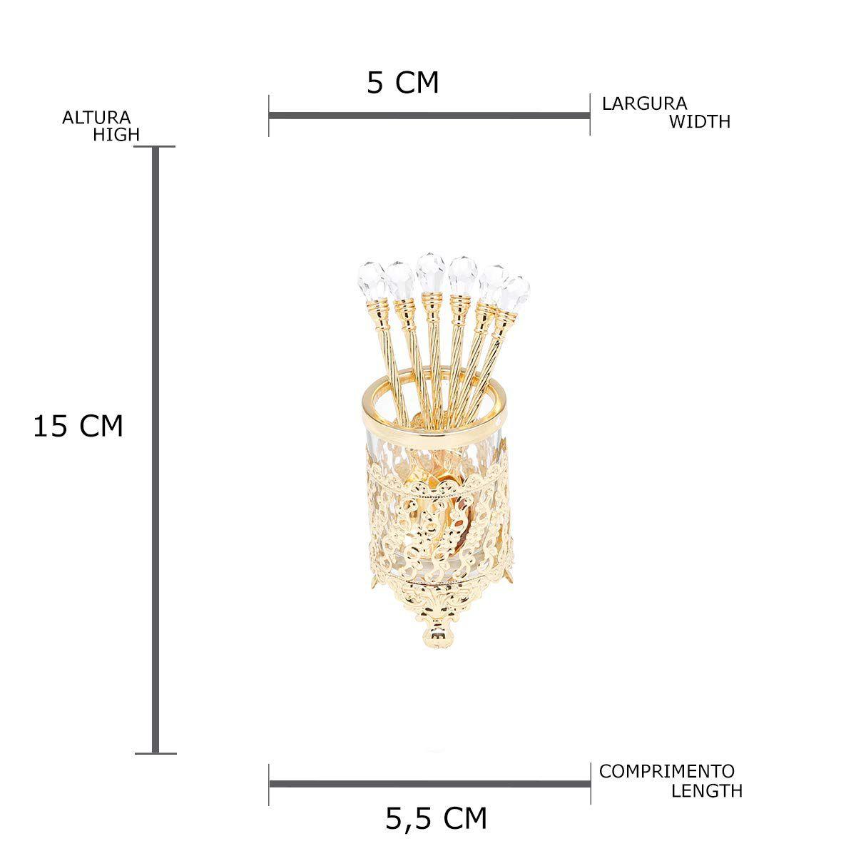 Cj C/6Colheres Dourada Zamac -3765 Lyor