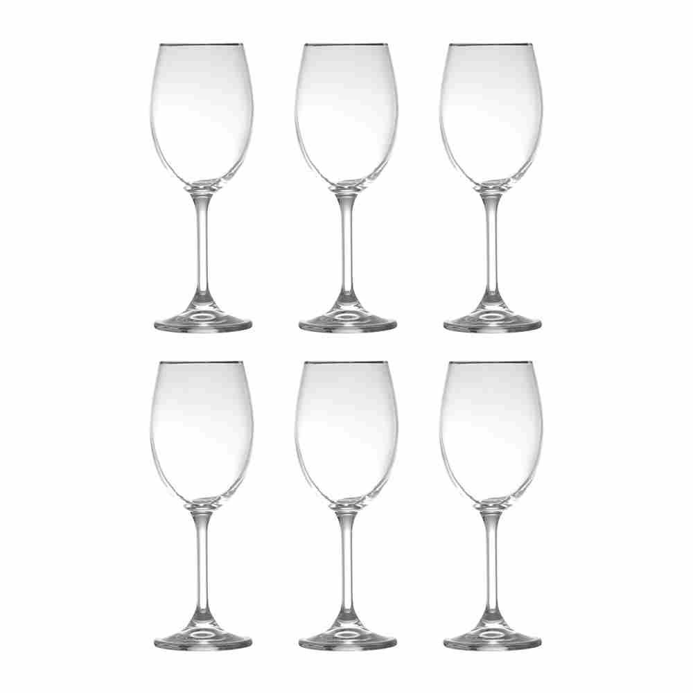 Cj Tacas Filete Prata Vinho Branco 5509 Lyor