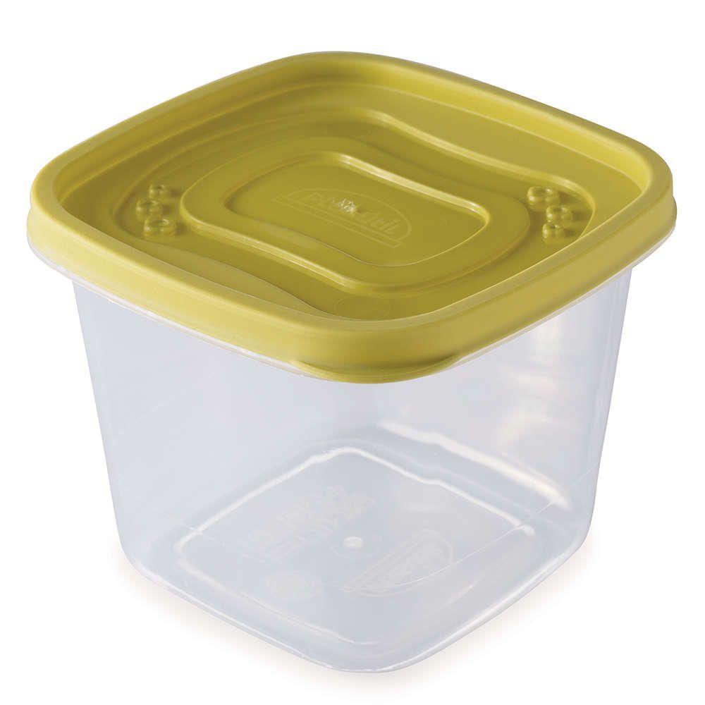Clic Pote Quadrado 1,2 L 2189 Plasutil