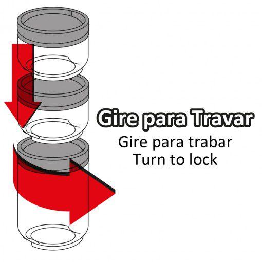 Conjunto Organizador de Plástico Gire e Trave - Plasutil