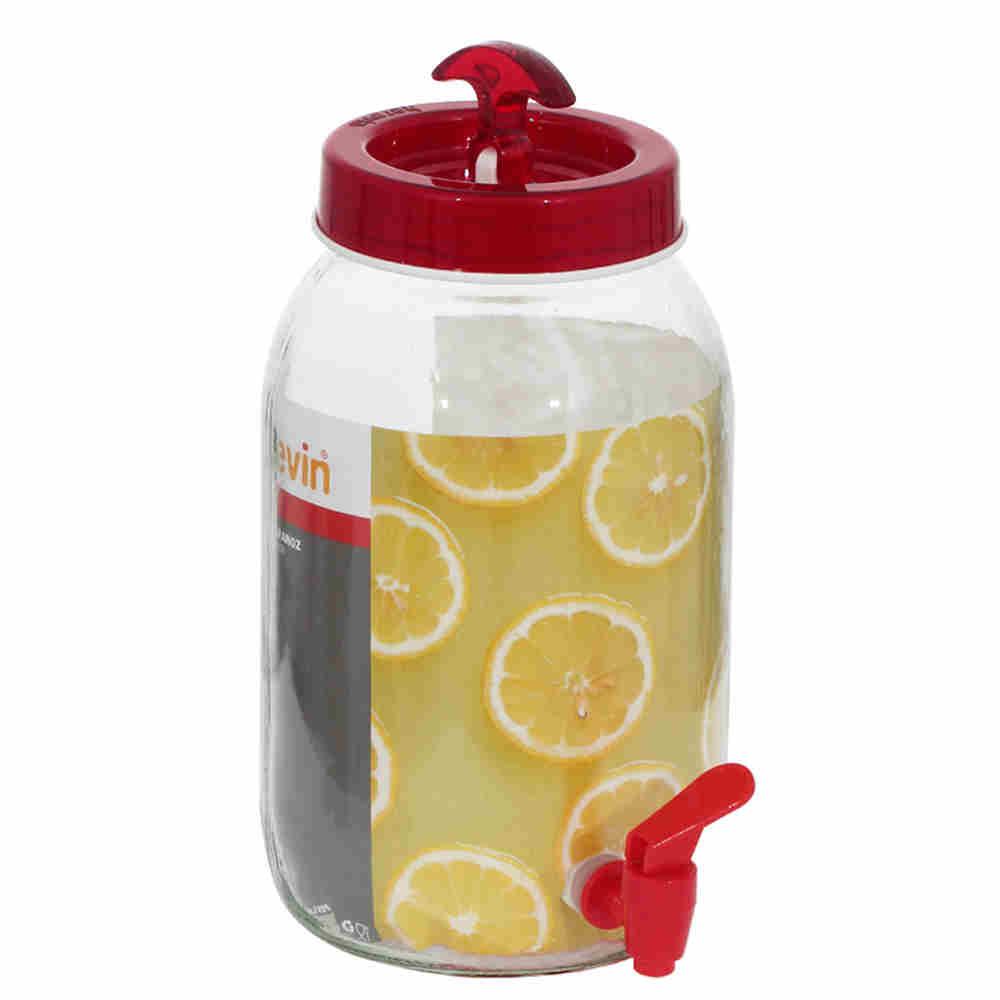 Dispenser De Vidro Juice Trans. Vermelho 5116 Lyor