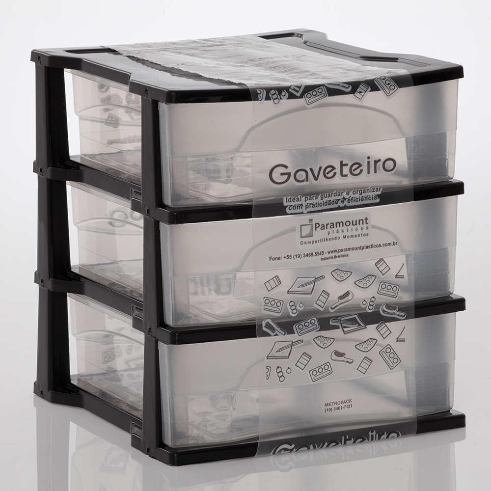 Gaveteiro Médio Com 3 Gavetas 18,5X22X21,5Cm Paramount