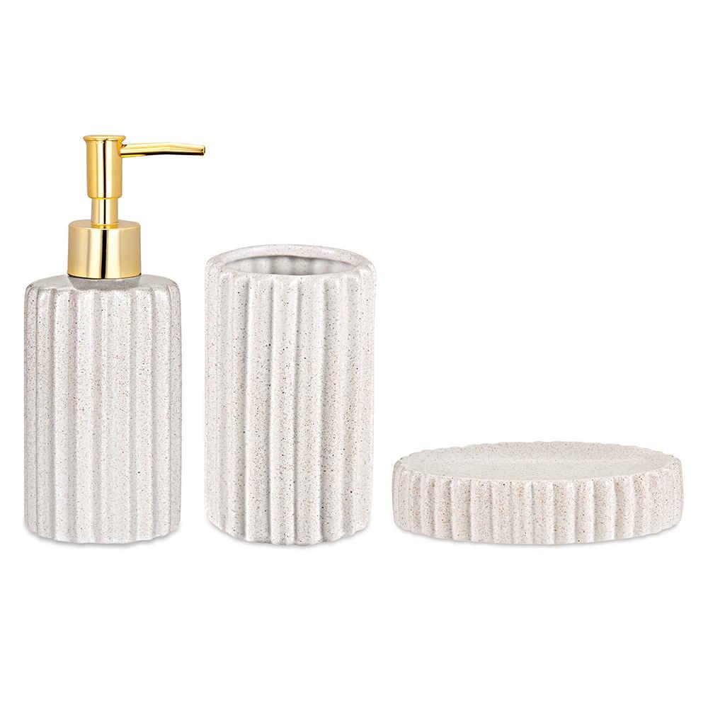 Kit Banheiro Branco Cerâmica 09068