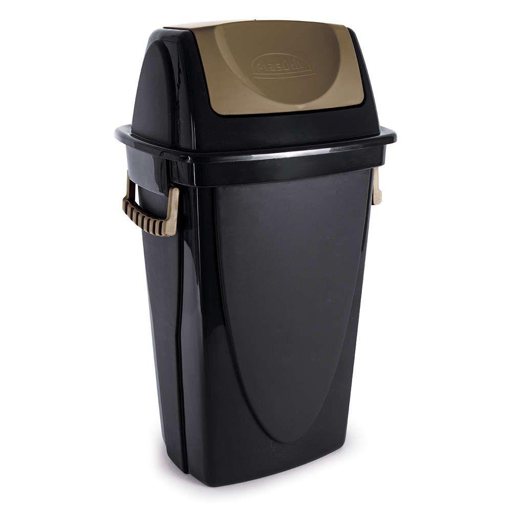 Lixeira Piso Basc Ecoblack 58 L 3475 Plasutil