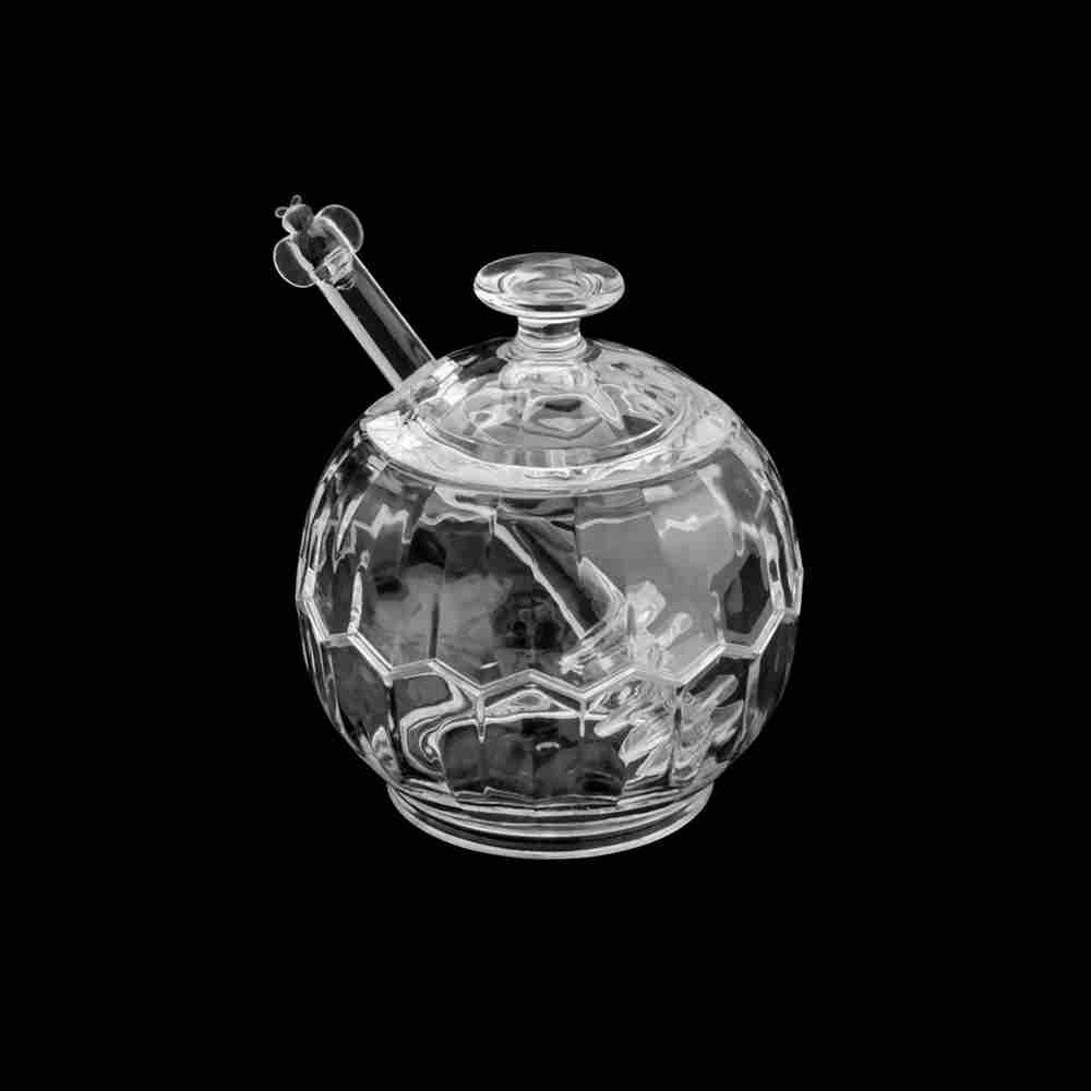 Meleira com mexedor de acrílico ball 9,6×10,4cm - Lyor