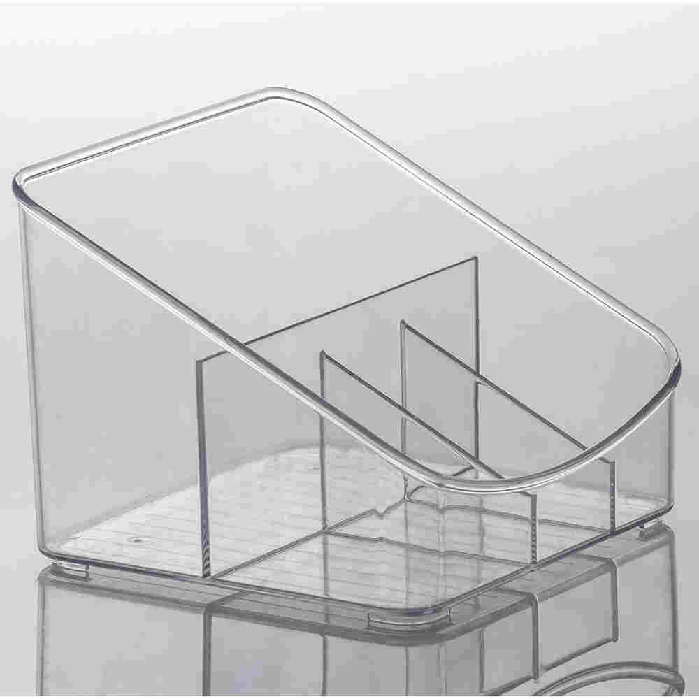 Organizador Diamond Com Divisórias Cristal 18X17X13Cm Paramount