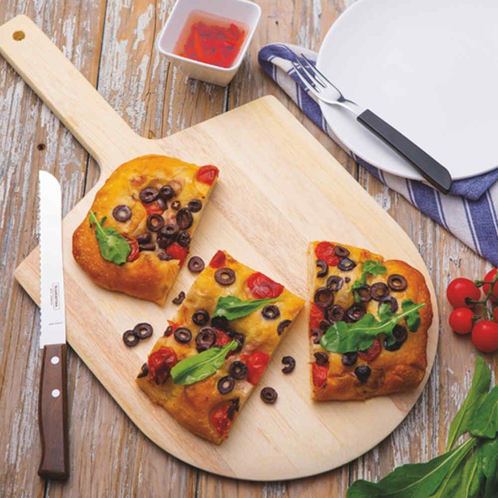 Pá Para Pizza Em Madeira Marupá Com Cabo Curto 55X30 Cm Tramontina 13268182