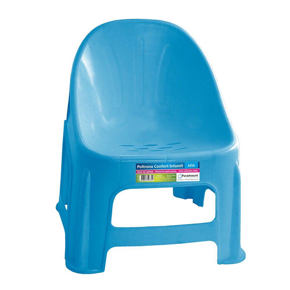 Poltrona Confort Infantil Azul 37X34X42,5Cm Paramount