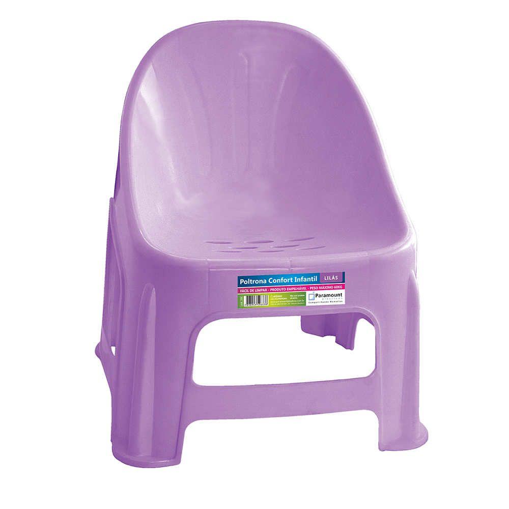 Poltrona Confort Infantil Lilás 37X34X42,5Cm Paramount