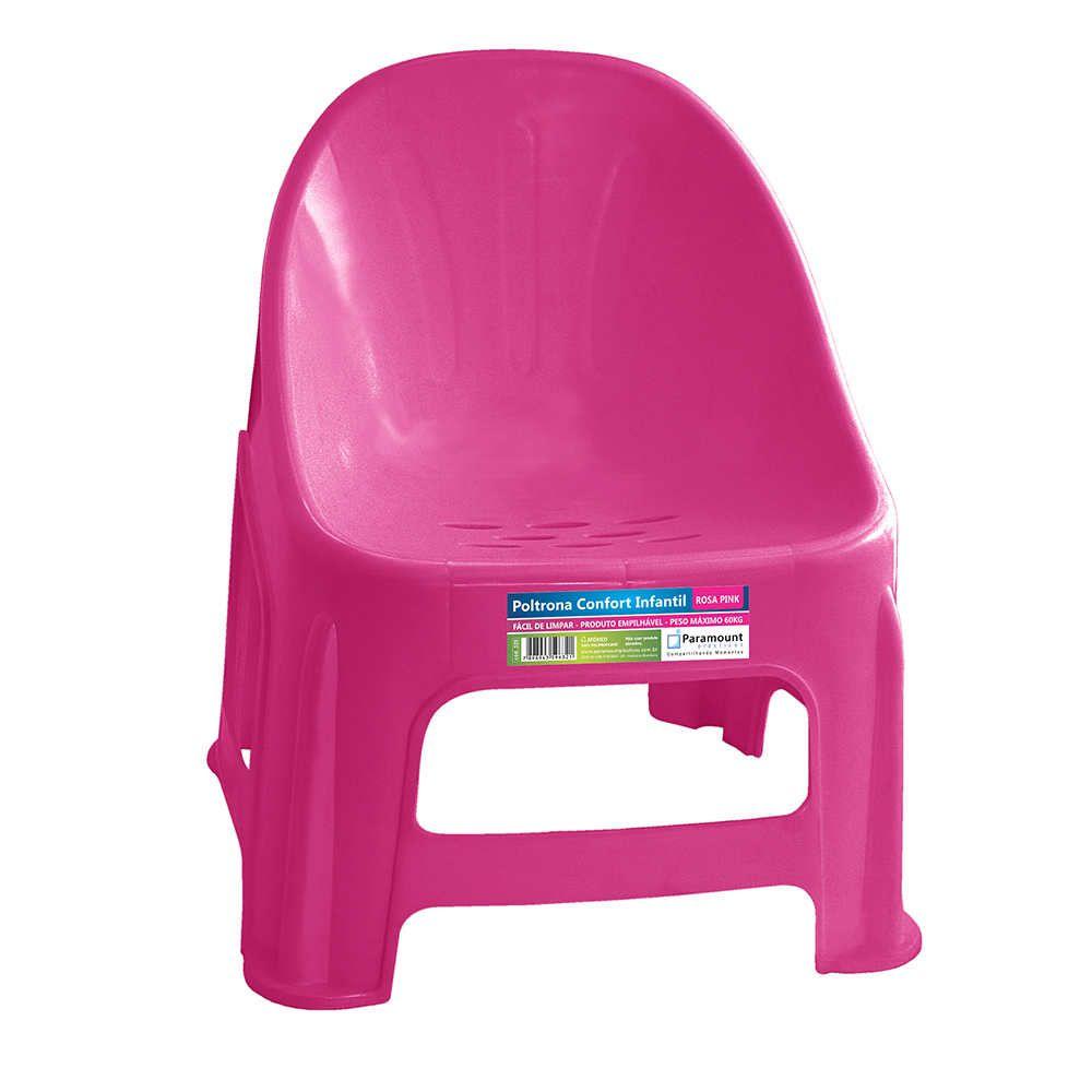 Poltrona Confort Infantil Rosa Pink 37X34X42,5Cm Paramount
