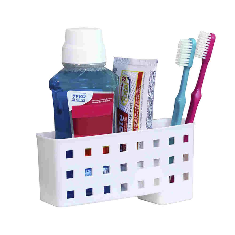 Porta Escovas E Creme Dental Com Ventosas