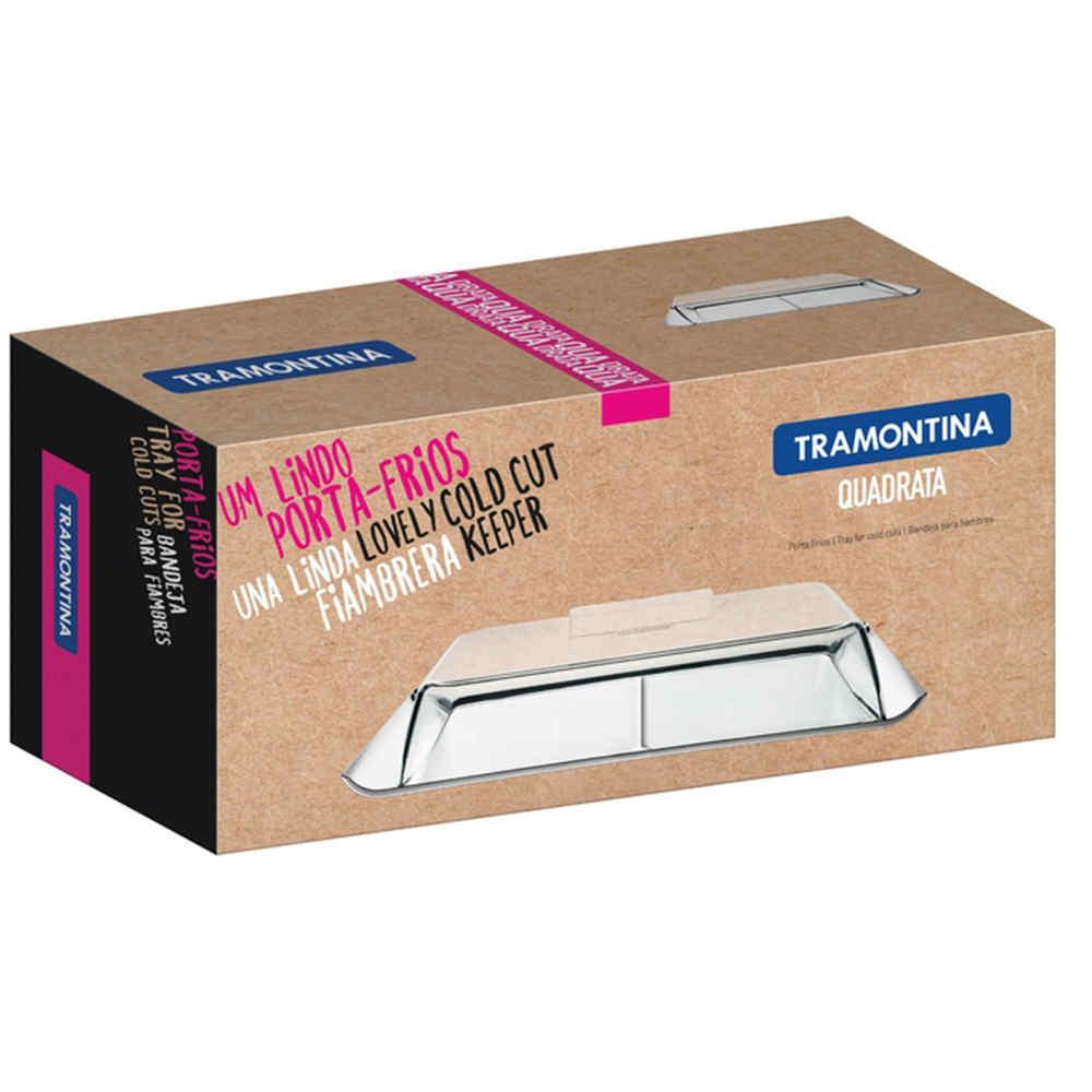 Porta Frios Em Aço Inox Com Cúpula Transparente 2 Peças Tramontina 64780610