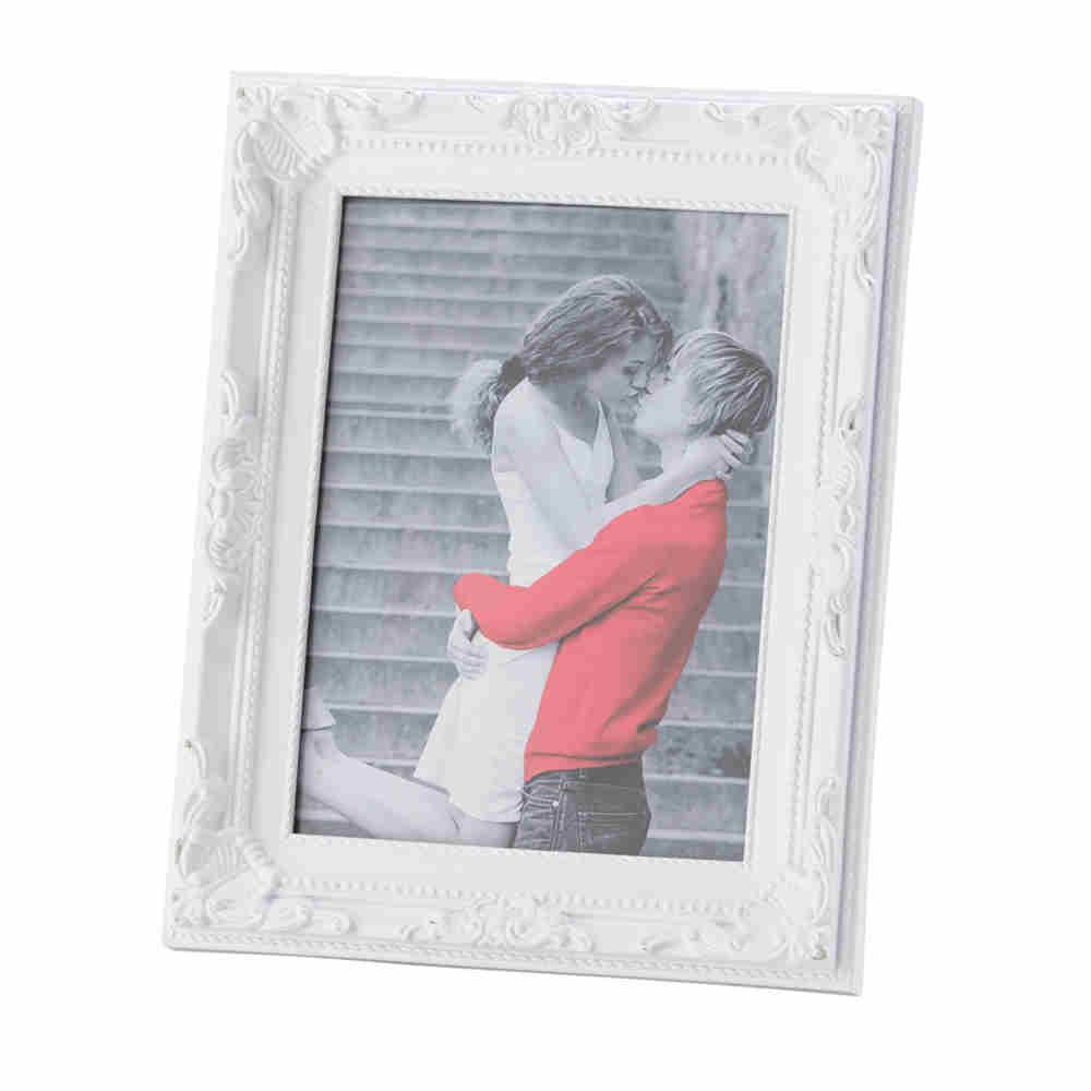 Porta Retrato De Plast Vintage Branco 20X25Cm 3350 Lyor