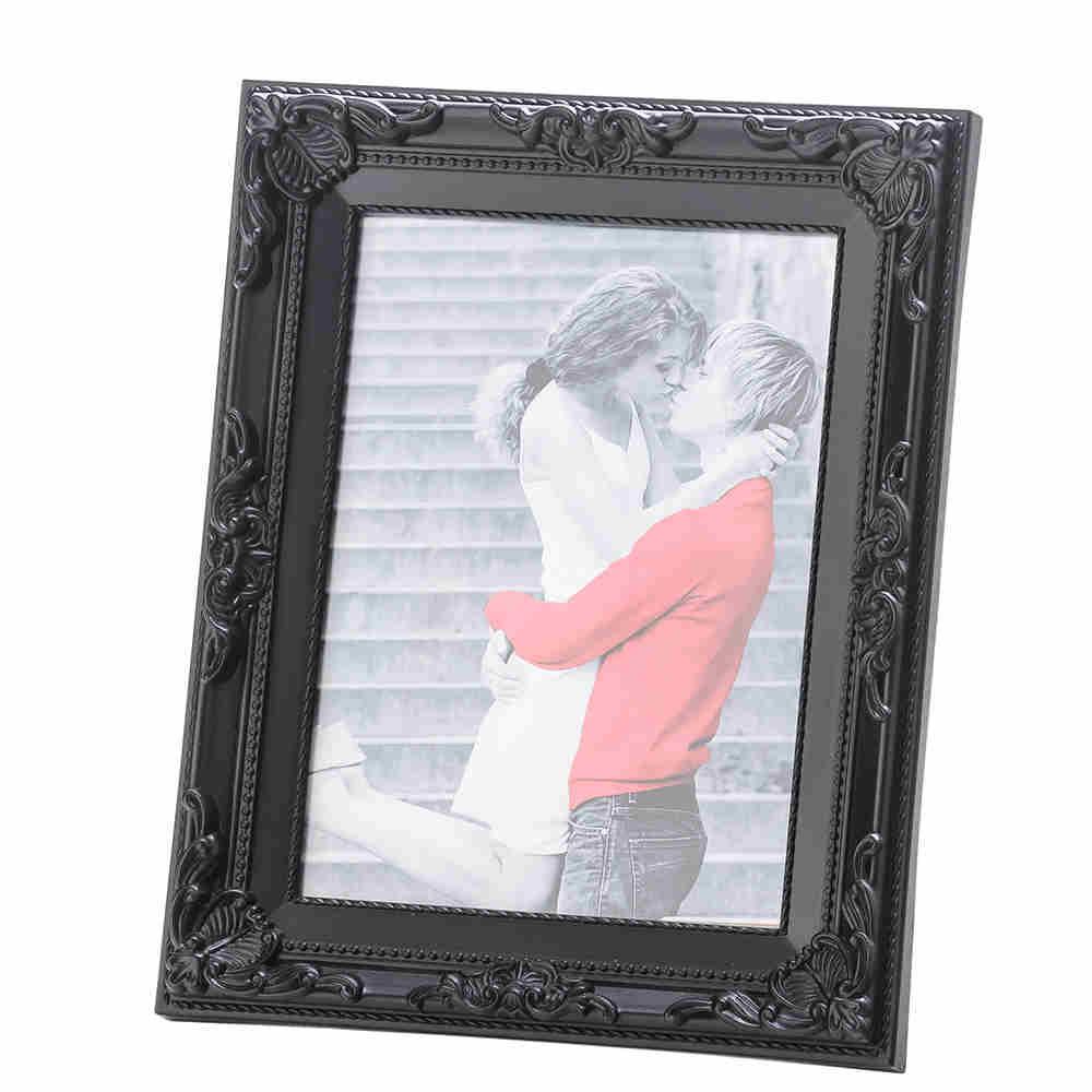 Porta Retrato De Plast Vintage Preto 10X15Cm 3353 Lyor