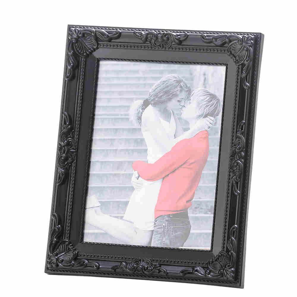 Porta Retrato De Plast Vintage Preto 15X20Cm 3356 Lyor