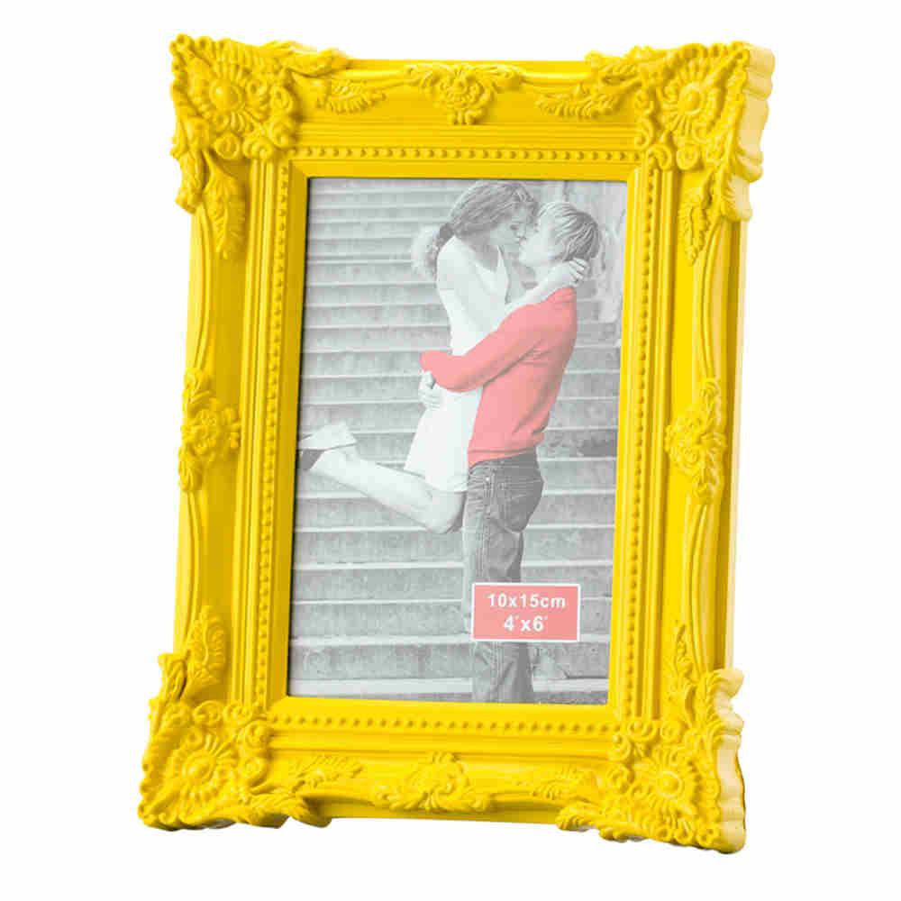 Porta Retrato Retro De Plast Amarelo 20X25 3056 Lyor
