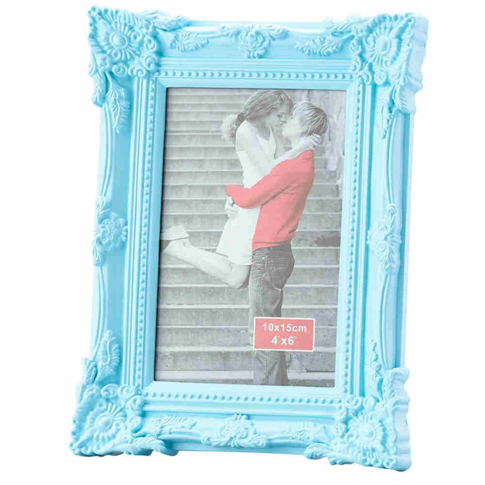 Porta Retrato Retro Azul 10X15Cm - Lyor