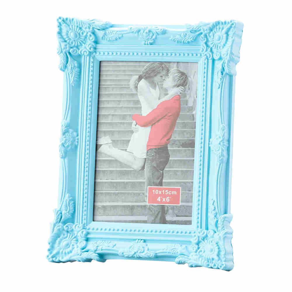 Porta Retrato Retro De Plast Azul 20X25Cm 3055 Lyor