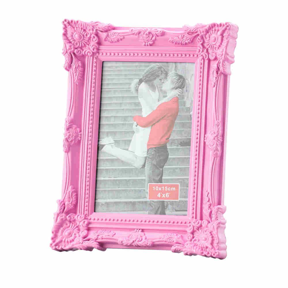Porta Retrato Retro De Plast Rosa 20X25Cm 3053 Lyor