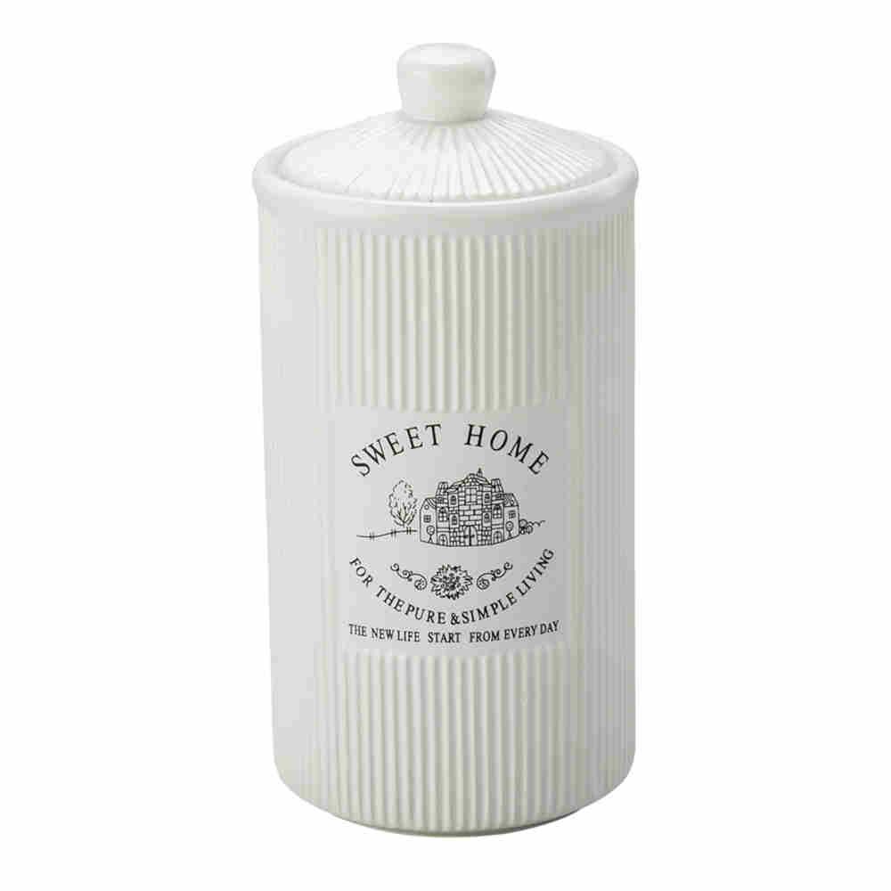 Pote De Porcelana Sweet Home 21Cm - Lyor