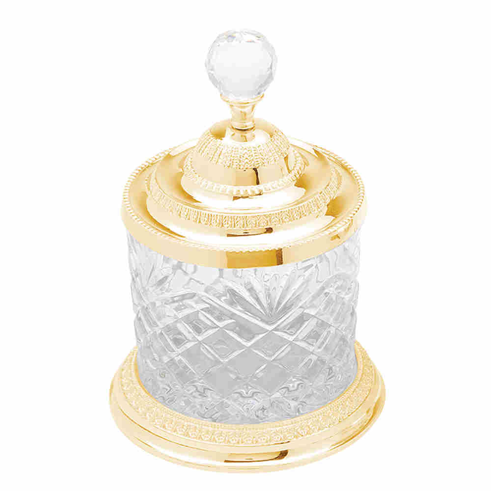 Pote Multiuso De Zamac C Dourado 16,5Cm 3800 Lyor
