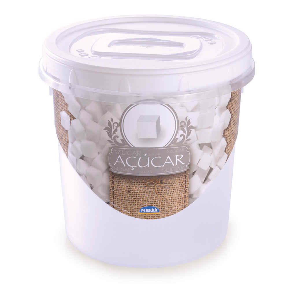 Pote Rosca Dec Açúcar Ref 6400 Plasutil