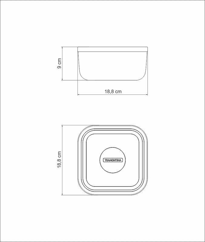 Pote Freezinox Quadrado Em Aço Inox Com Tampa Plástica Lilás 19 Cm 2,4 L Tramontina 61221194