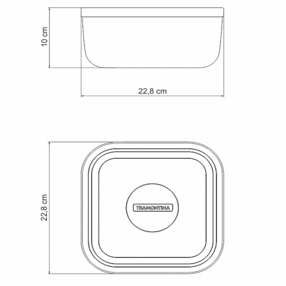 Pote Freezinox Quadrado Em Aço Inox Com Tampa Plástica Lilás 23 Cm 4 L Tramontina 61221234