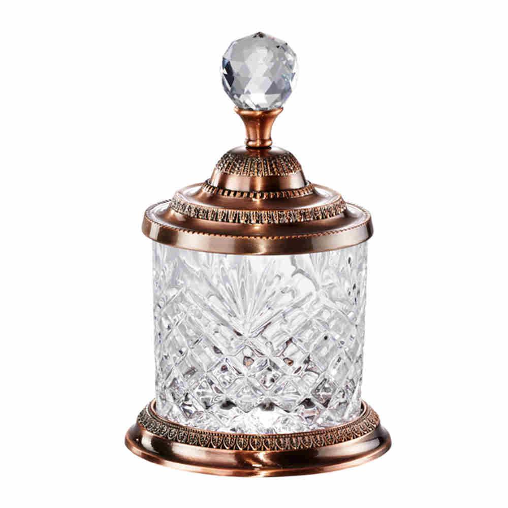 Pote Decorativo em Zamac Cristal Bronze - Lyor