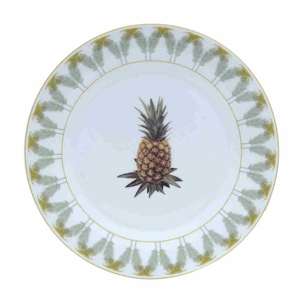 Prato Raso Porcelana Abacaxi 68263 Lyor
