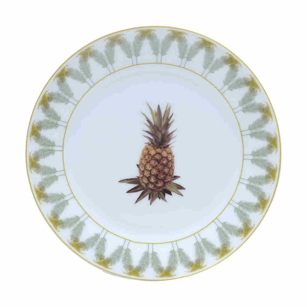 Prato Sobremesa De Porcelana Abacaxi 68265 Lyor