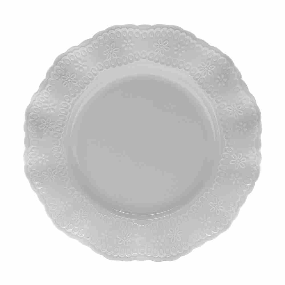 Prato Sobremesa Princess De Porcelana - Lyor
